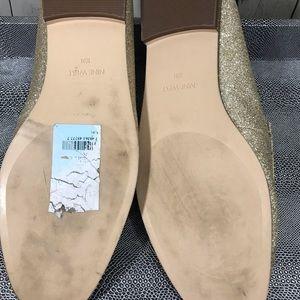 Nine West Shoes - Nine West Wildgirls glitter gold loafers 10M